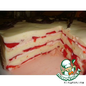 "Летний торт ""Облака любви"""