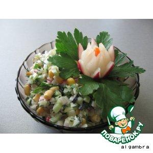 Салат из редиса и пастернака