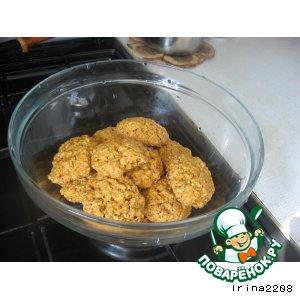 Овсяное печенье с пудингом и семечками