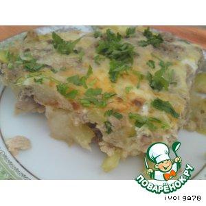 Фриттата или омлет с кабачком и тунцом