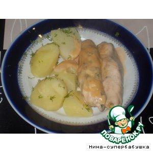 Колбаски из куриного фарша и сельдерея