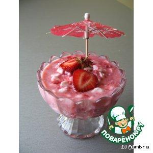 Розовый десерт