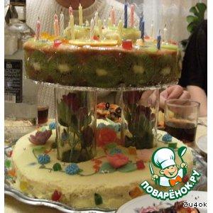 Торт двухэтажный