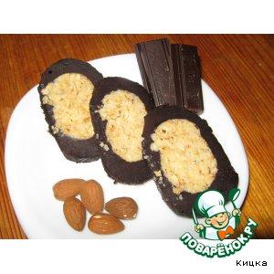 """Десерт """"Шоколадно-ореховый рулет"""""""