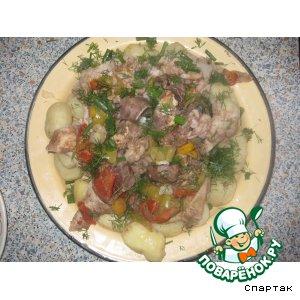 Жау-буйрек или фаршированный желудок барашка