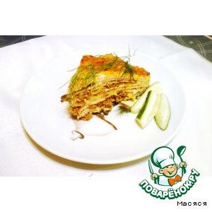 Блинный пирог а-ля лазанья