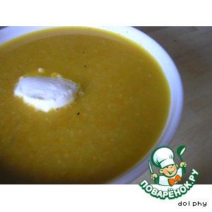 Суп-пюре из моркови и нута