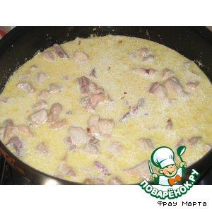 Курица с беконом в сливочном соусе
