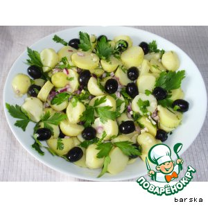 Картофельный салат с маслинами