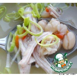 Суп из индейки с белой фасолью