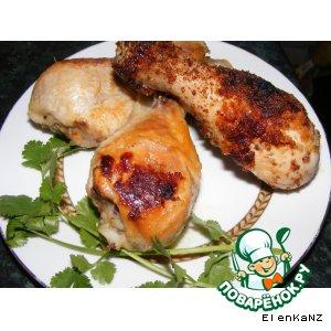 Курица c  медом и солью