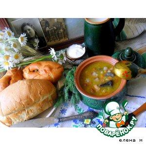 """Грибной суп с перловкой и шкварками """"Мишин суп"""""""