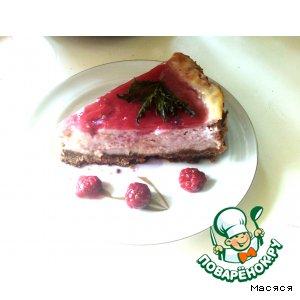 Фруктово-творожный торт-пирог