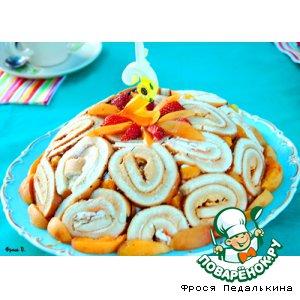 Торт-шарлотка с фруктами
