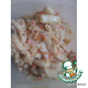 Кальмар в сметанно-сырном соусе