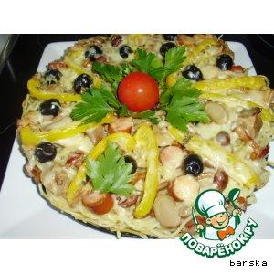 Спагетти-пицца