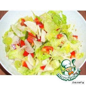 Салат с белым редисом -  дайконом -  и виноградом