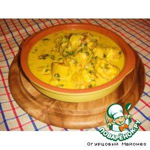 Морепродукты с шафраном «Орех в крокусе»
