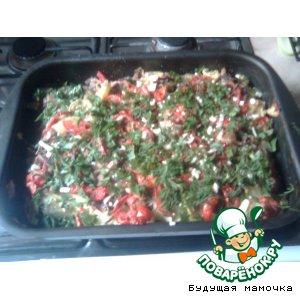 Ароматная запеканка из овощей под молочным соусом