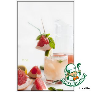 """Коктейль """"Мятный бриз"""" с грейпфрутом"""