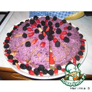 Черничный пирог из гречишной муки
