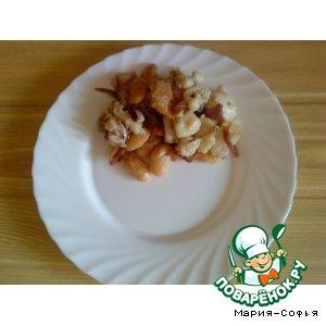 Закуска с морским языком и фасолью