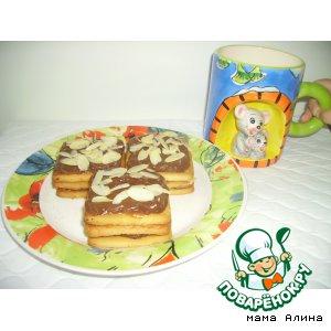 Пирожные с шоколадно-арбузной прослойкой!
