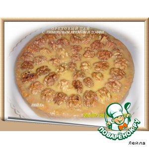 Ореxовый пай с  лимонным кремом и тоффи