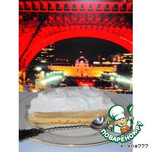 Genoise avec du cafe parfait et meringue (бисквит с кофейным парфе и кремом-безе)