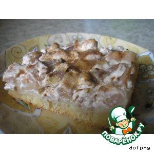 Нежный орехово-грушевый пирог