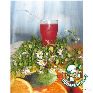 """Розовый коктейль с зелeным чаем """"Эликсир бодрости"""""""