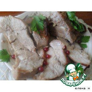 Запеченная свинина в смородиново-горчичном маринаде