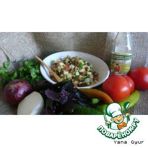 Турецкий салат с аджикой
