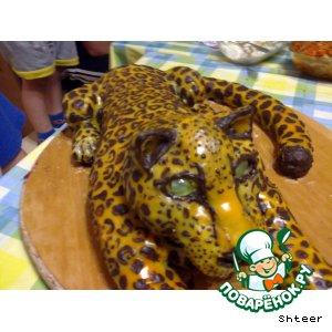 """Медовый торт """"Леопард"""""""