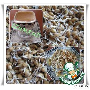 Лакомство с проростками пшеницы