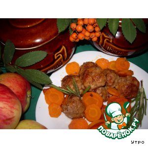 Тефтельки томленые с морковью