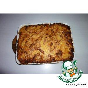 Запеканка из картофельного пюре с фаршем