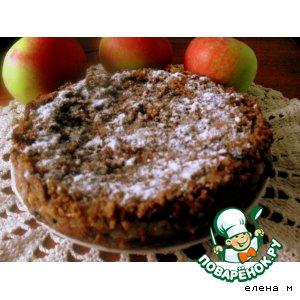 Пирог из ржаного хлеба с яблоками
