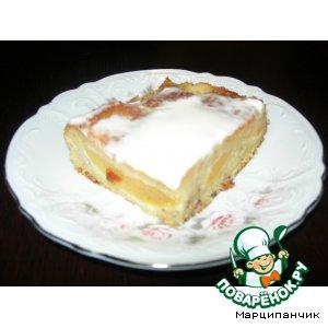 Бананово-персиковый пирог