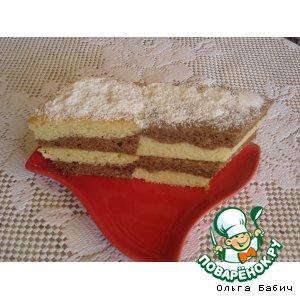 Творожный кекс с какао