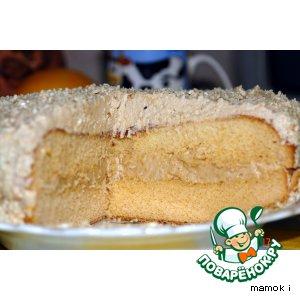 """Торт """"Северный"""" с кофейным кремом"""