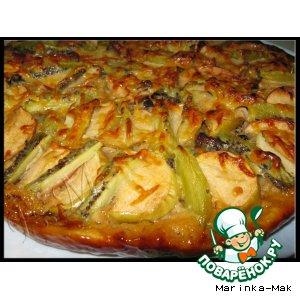 Яблочная пицца с киви