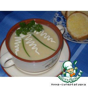"""Суп """"Вишисуаз"""" с чесночными гренками"""