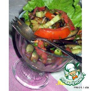 """Овощной салатик """"Дивная пора"""""""