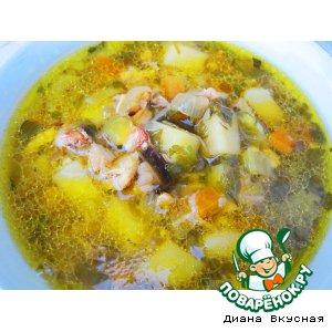 """Куриный суп """"Жареный"""""""