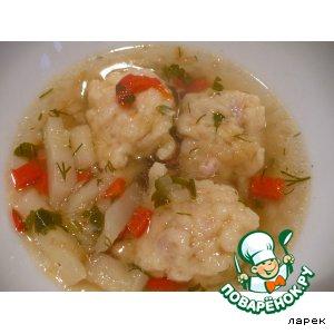 Галушки с салом для супа