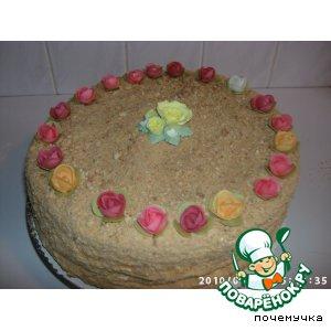 Слоeный медовый торт, Leyered Honey Cake