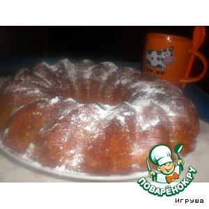 Ореховый кекс на манке и кефире