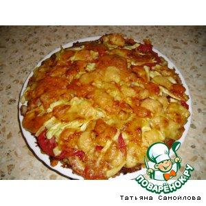Картофельная лепешка с кабачками
