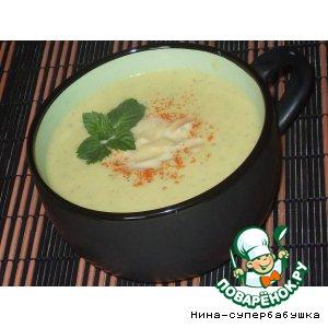 Мятный суп-крем с цветной капустой